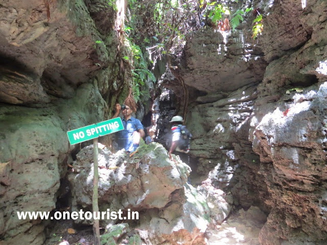 limestone caves , baratang, middle andaman