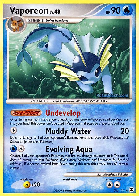 Vaporeon rising rivals pokemon card review primetimepokemon 39 s blog - Carte pokemon aquali ...