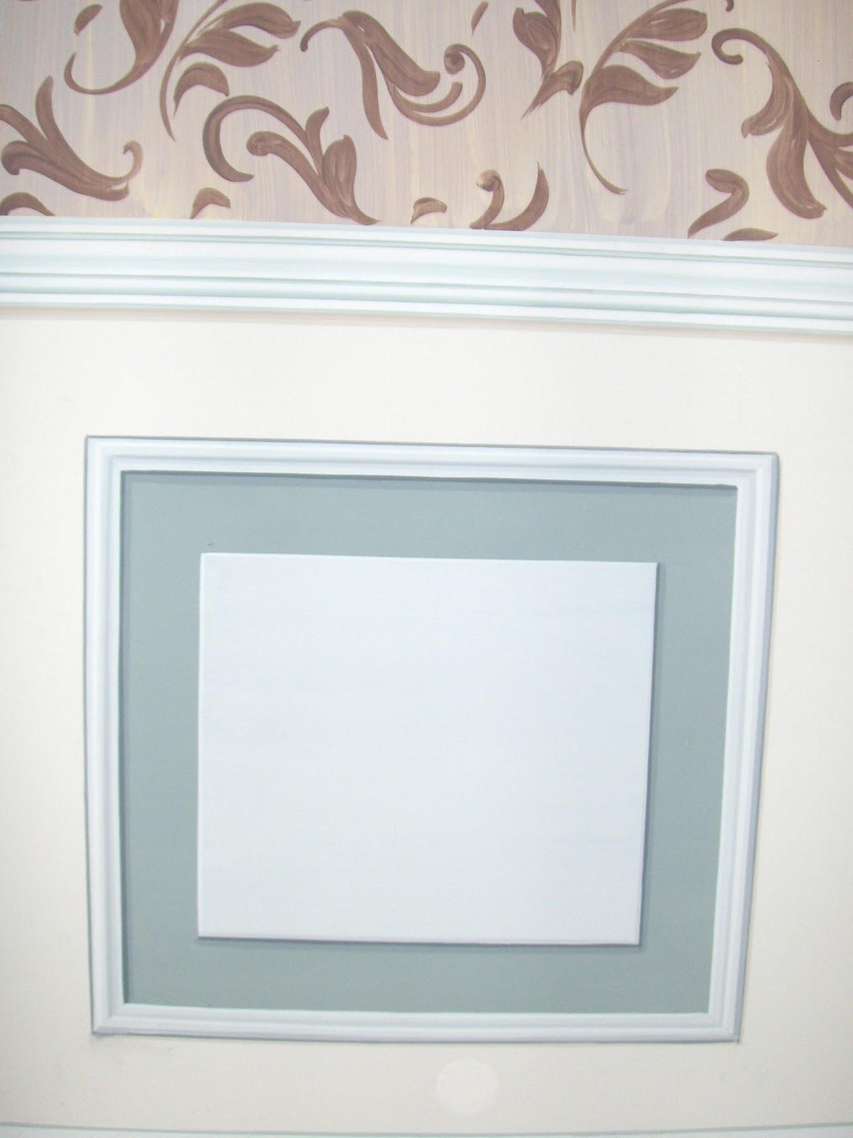 Decora interni boiserie dipinta a trompe l 39 oeil - Tiralinee parete ...