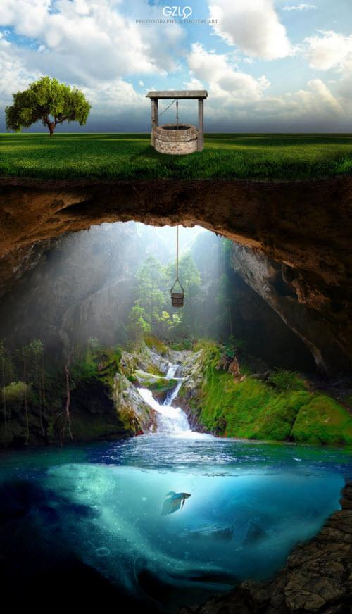 El pozo de agua