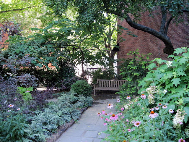 Visitors to this Old New York spot will walk along the brick path at The Gardens of Saint Luke in the Fields