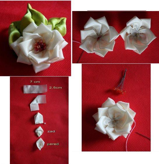 Moños elegantes: ¿Como hacer flores de liston ...