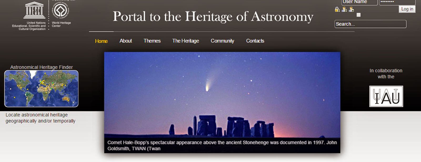 UNESCO World Heritage Portal to the Heritage of Astronomy