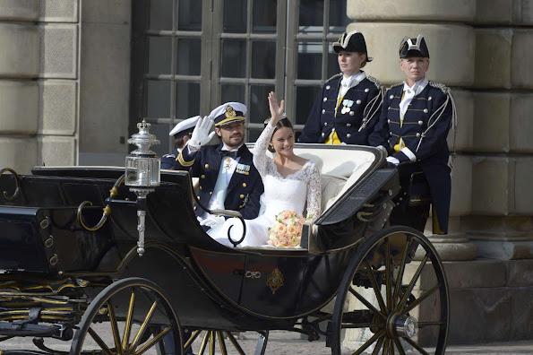 Prince Carl Philip and Princess Sofia (yes, Princess Sofia!, Royal title is now HRH Princess Sofia, Duchess of Värmland).