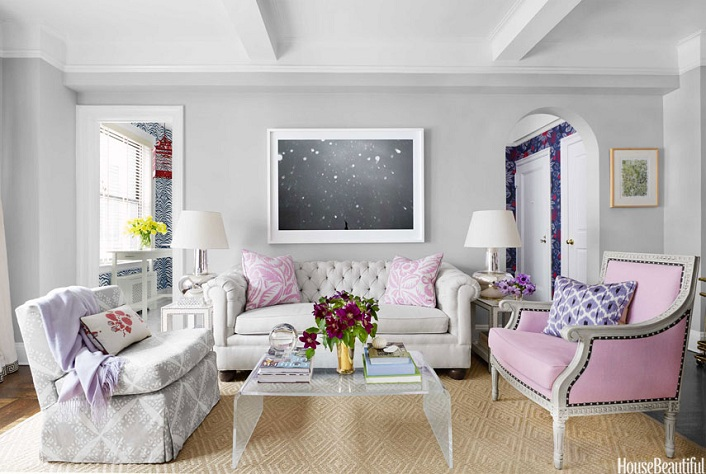 Mix and chic home tour a stylish and feminine new york for Room design 3x3