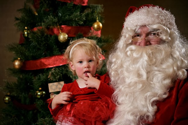 Little Girl and Santa