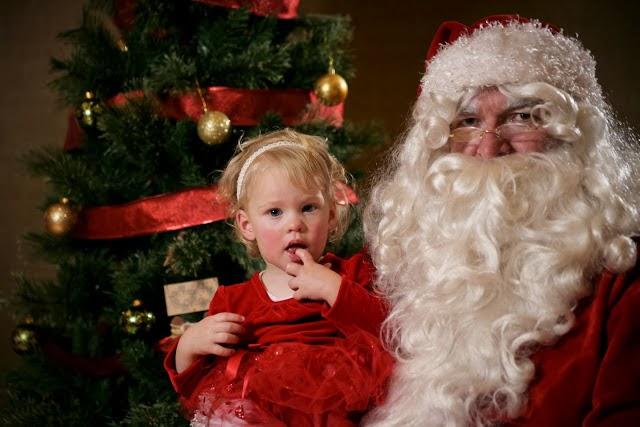 Little Girl and Santa
