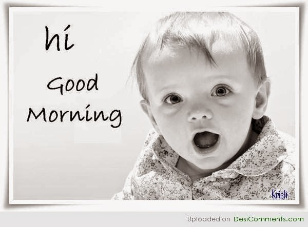 Cute Child Wish Good Morning Image Wide
