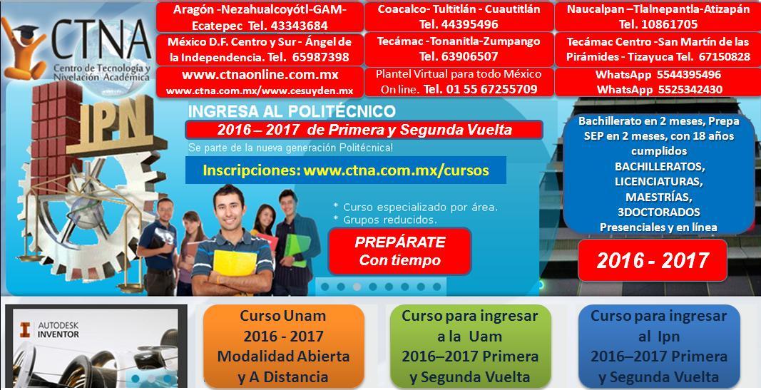 Curso IPN 2017 | Curso de ingreso Ipn 2017  - 2018 primera y segunda vuelta