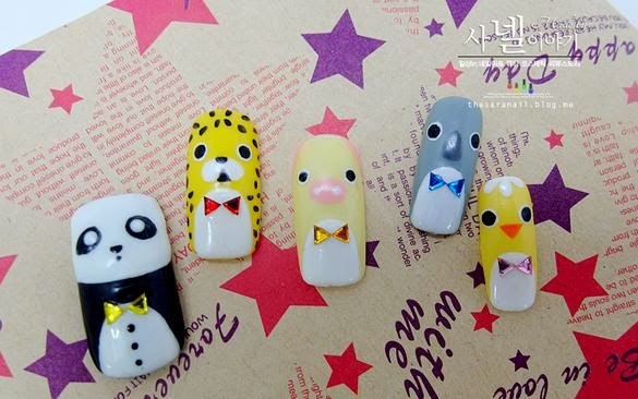 Sara Nail Korean Animal Nail Art Cute Animal Nails Cutest Nail