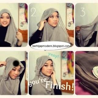 Hijab Modern Segi Empat