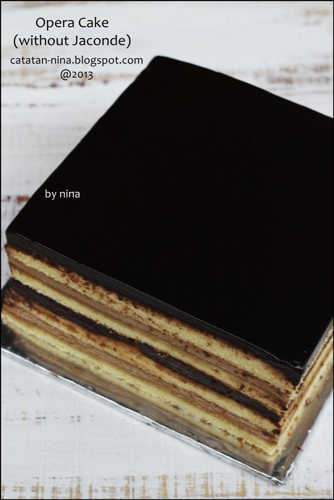 Opera Cake Ricke Sasaran Adalah Opera Cake