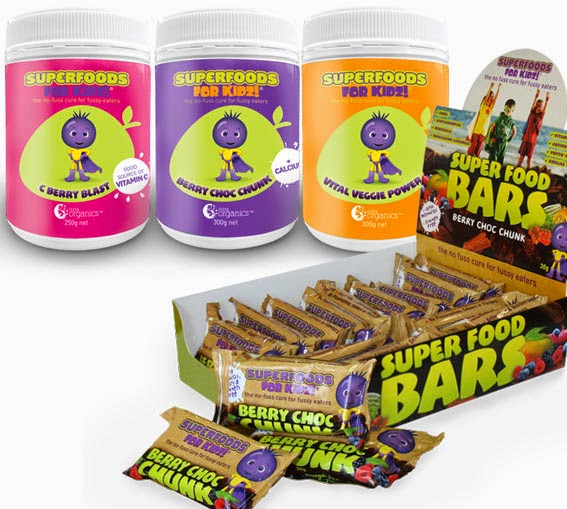 I love and use in my cooking the Superfoods for Kids powders!