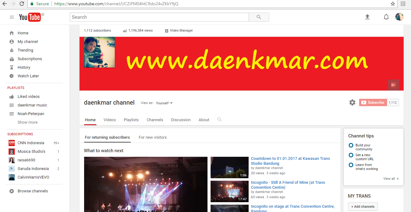 Youtube: daenkmar channel