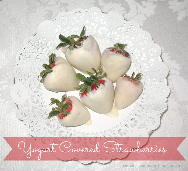 Yummy Dessert Yogurt Covered Strawberries