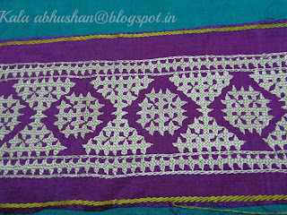 kutchwork border , monochrome embroidery