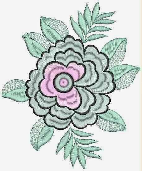 rose blomme vorm appliekwerk ontwerp