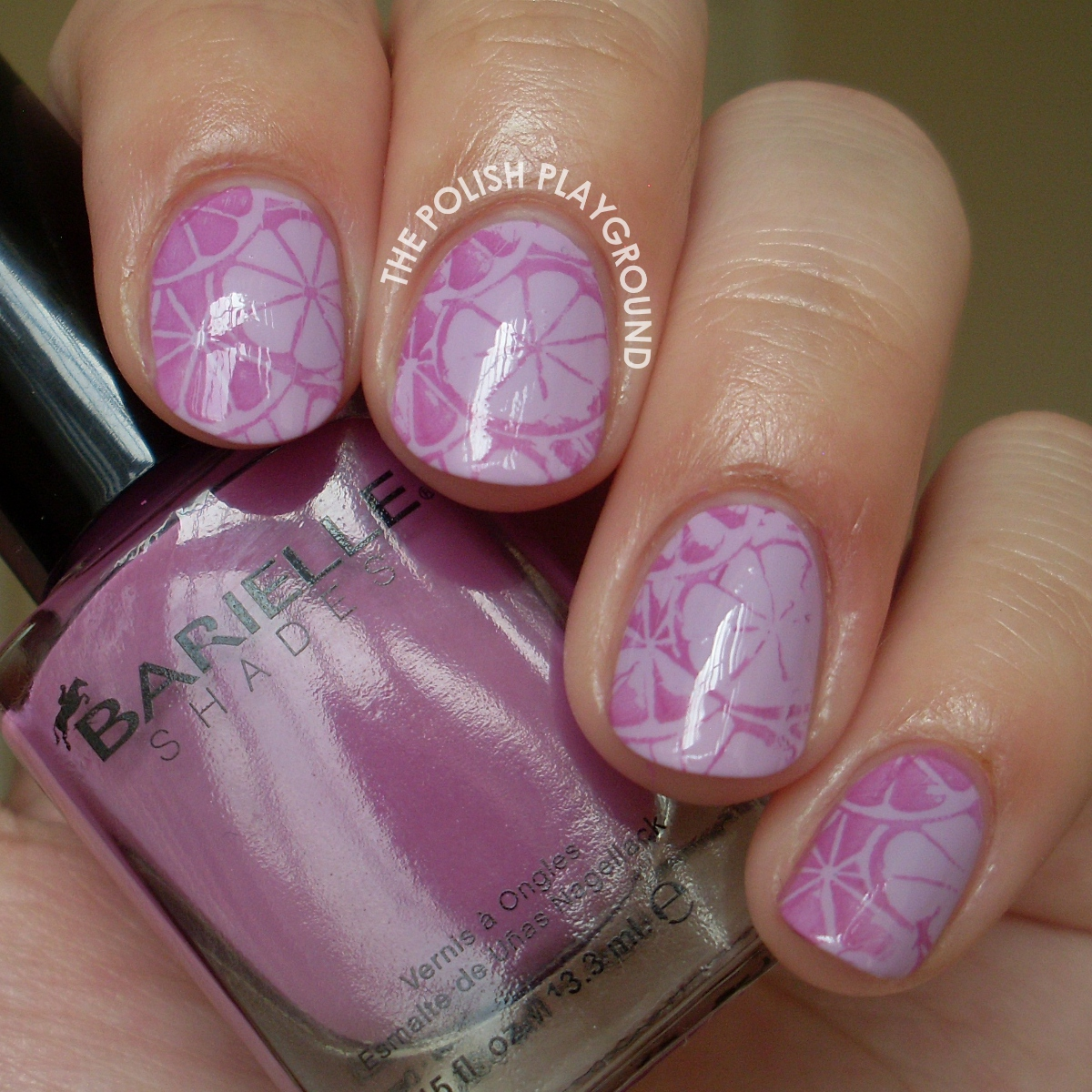 Purple Lemonade Stamping Nail Art