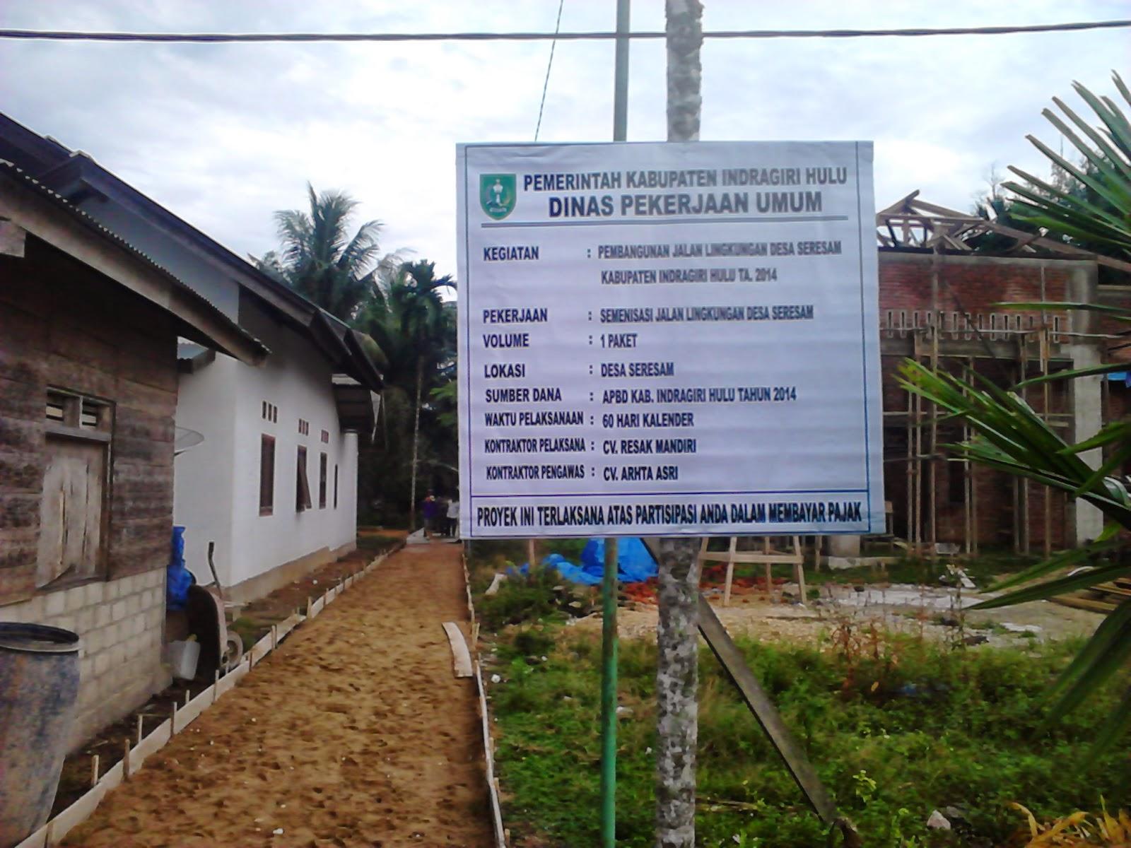 CV Resak Mandiri DEVID EKHA HIDAYAT semenisasi di Desa Seresam