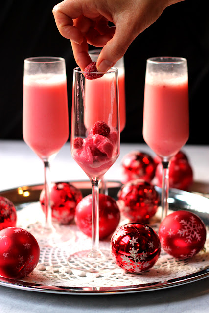 Raspberry Cream Mimosa – new years toast