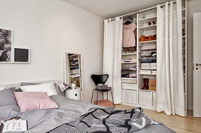 Decoraci n f cil armarios lowcost con cortinas - Armarios abiertos baratos ...