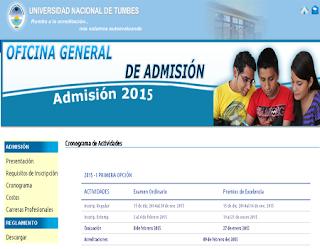 Resultados ingresantes URP 2015-II Universidad Nacional de Tumbes, 9 de Agosto