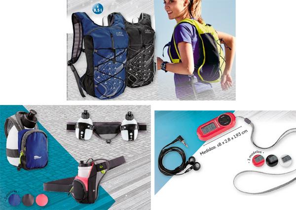 accesorios deportivos mochila ligera cinturón brazalete con botellín radio auriculares