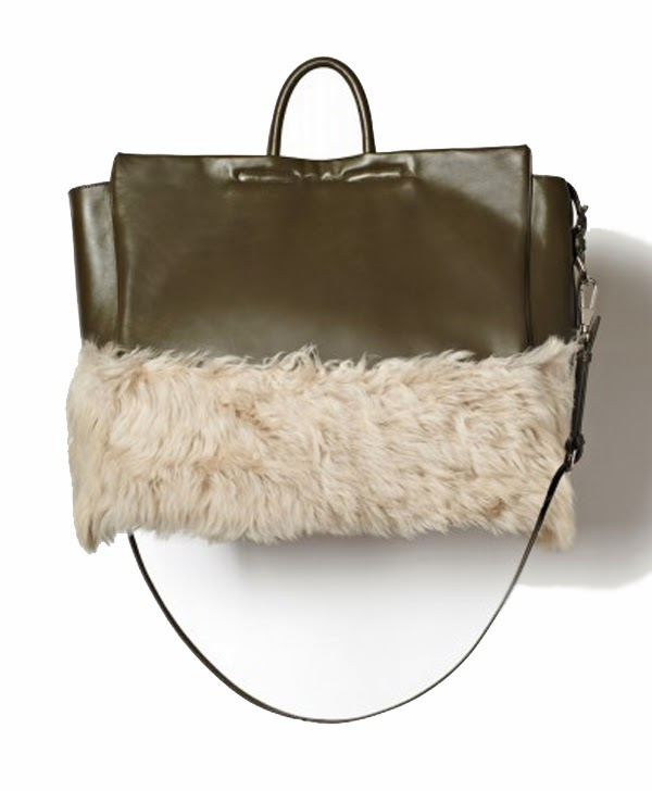 3.1 Phillip Lim leather goods olive and fur bag