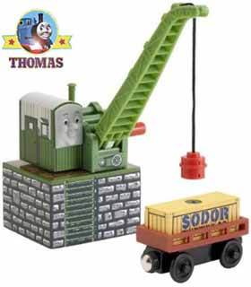 Thomas and friends Colin the crane wooden railway layouts design comprehensive starter toy train set