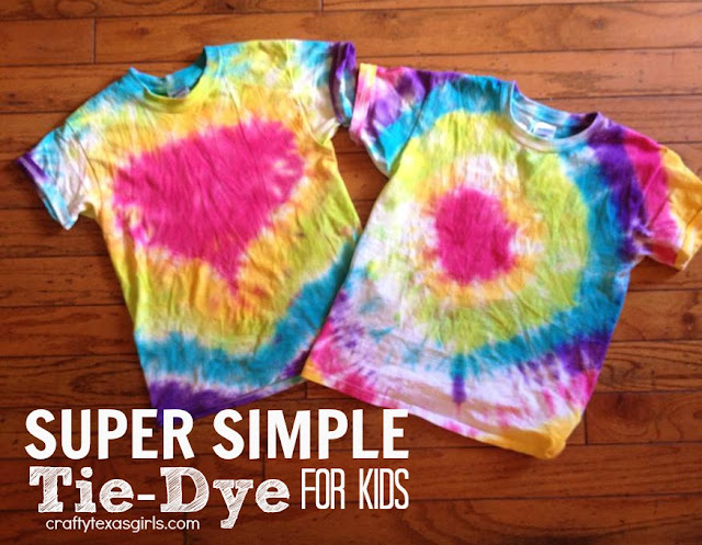 Crafty Texas Girls Craft It Tie Dye For Kids The Easy Way
