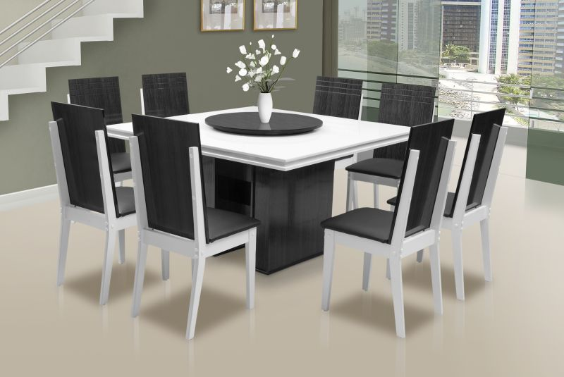 S tio bela vista mesa de jantar quadrada for Modelos comedores modernos
