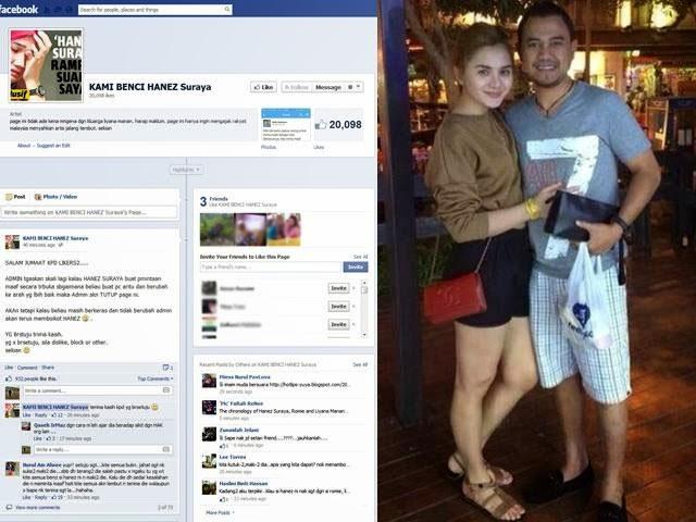 21,000 Likes Laman Facebook Kami Benci Hanez Suraya