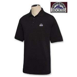 Big and Tall Colorado Rockies Black Polo T-Shirt