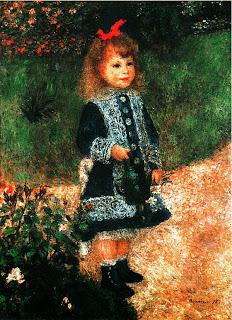Пьер Огюст Ренуар. Девочка с лейкой. 1876.