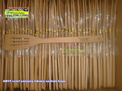 solet panjang lubang spatula kayu grosir