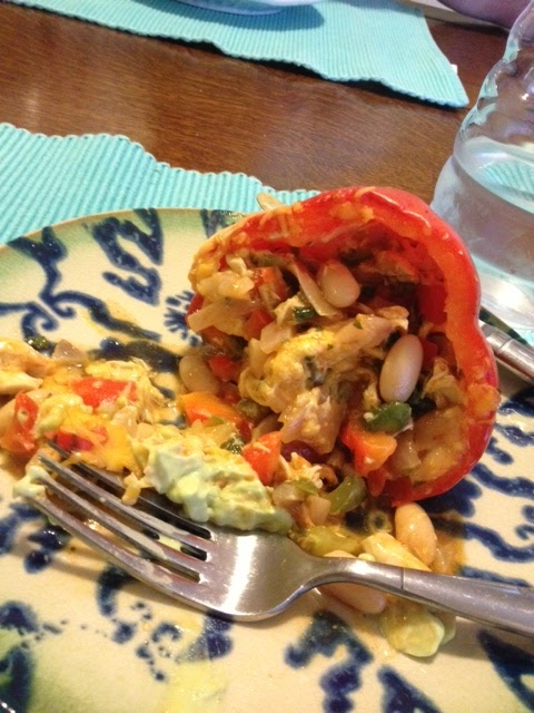 ... the Elevator: White Bean + Chicken Enchilada Stuffed Peppers