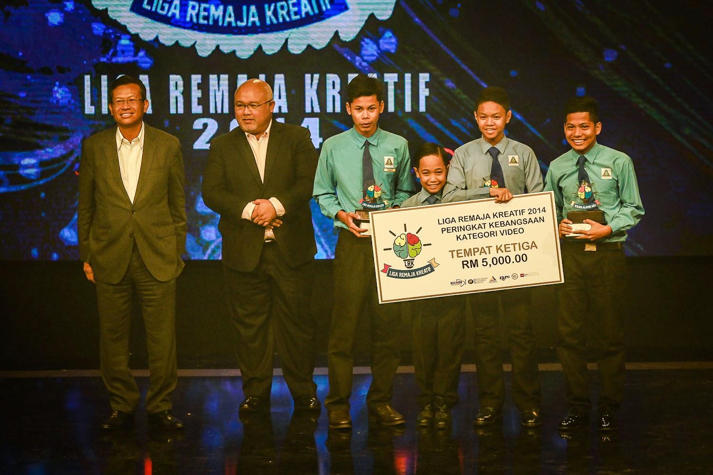 SMK Cherang Ruku Kelantan Tempat Ketiga Liga Remaja Kreatif 2014