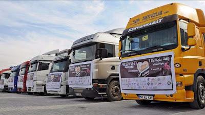 Mobil Truk Bantuan Turki