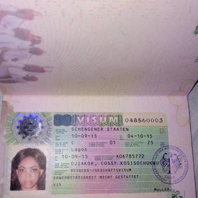 Cossy Orjiakor German Visa.
