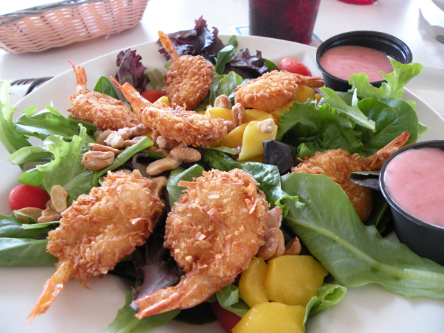 My coconut shrimp salad
