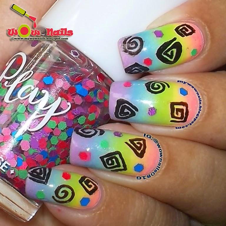 Wow Nails Shapes And Swirls Nail Art