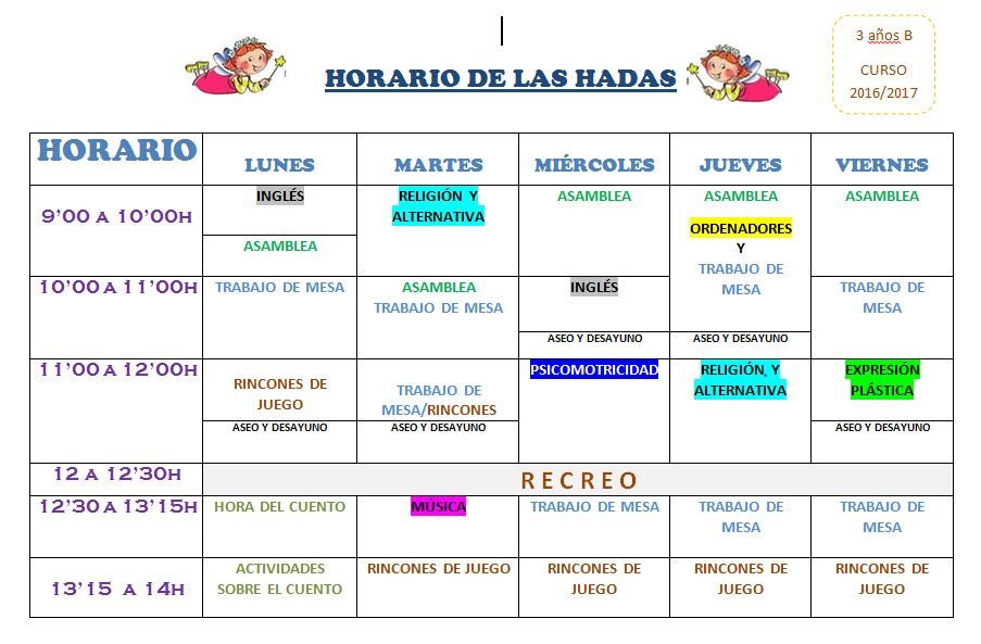 HORARIO HADAS