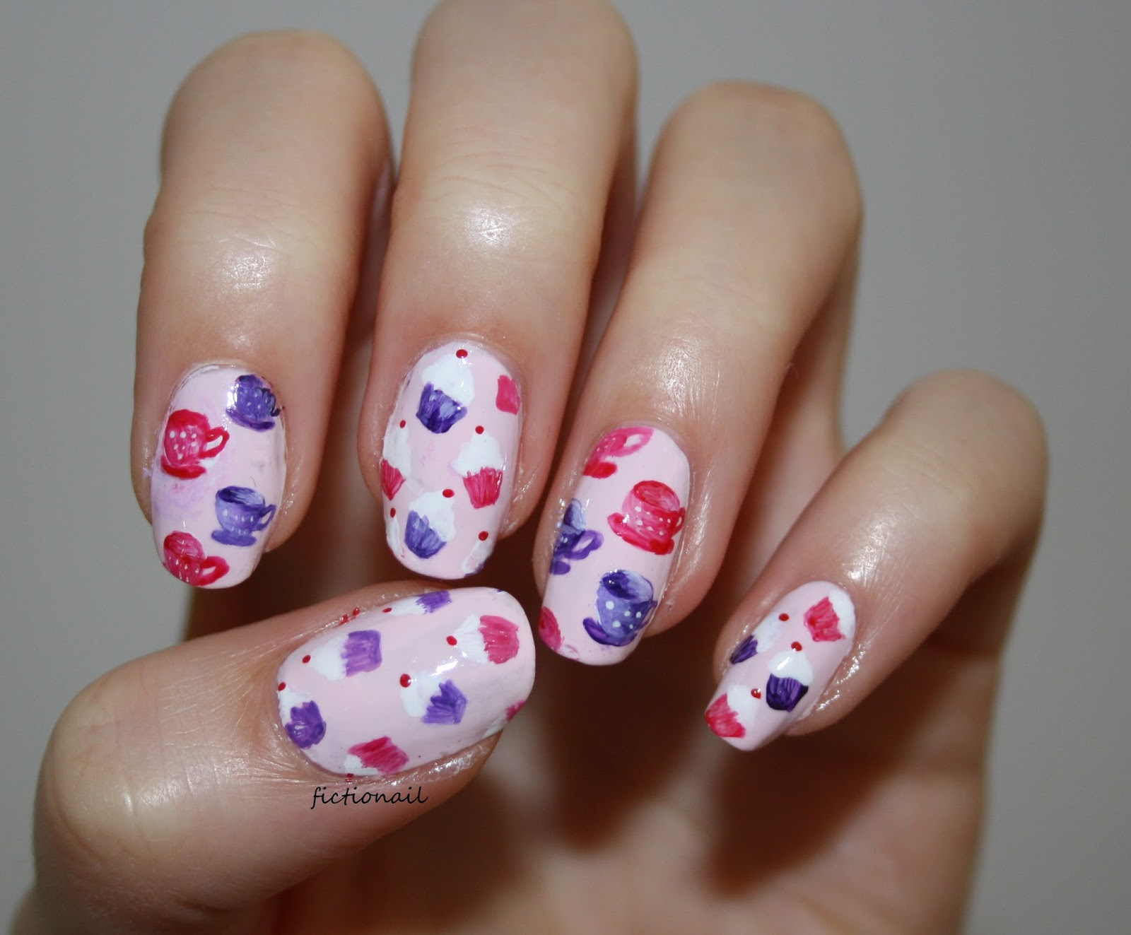 Cupcake and Teacup Nails