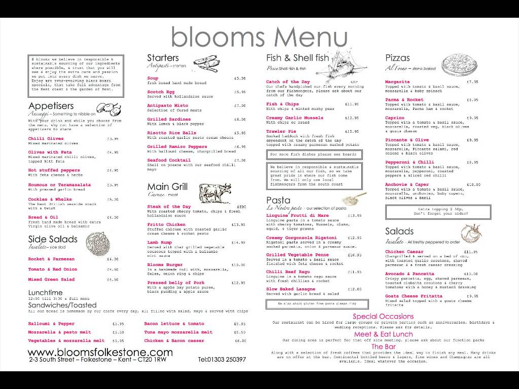 How to treat yourself at the weekend lunch at blooms restaurant in blooms folkestone restaurant menu solutioingenieria Images