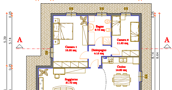 Progetti di case in legno casa 100 mq portico 37 mq for Progetti di portico anteriore