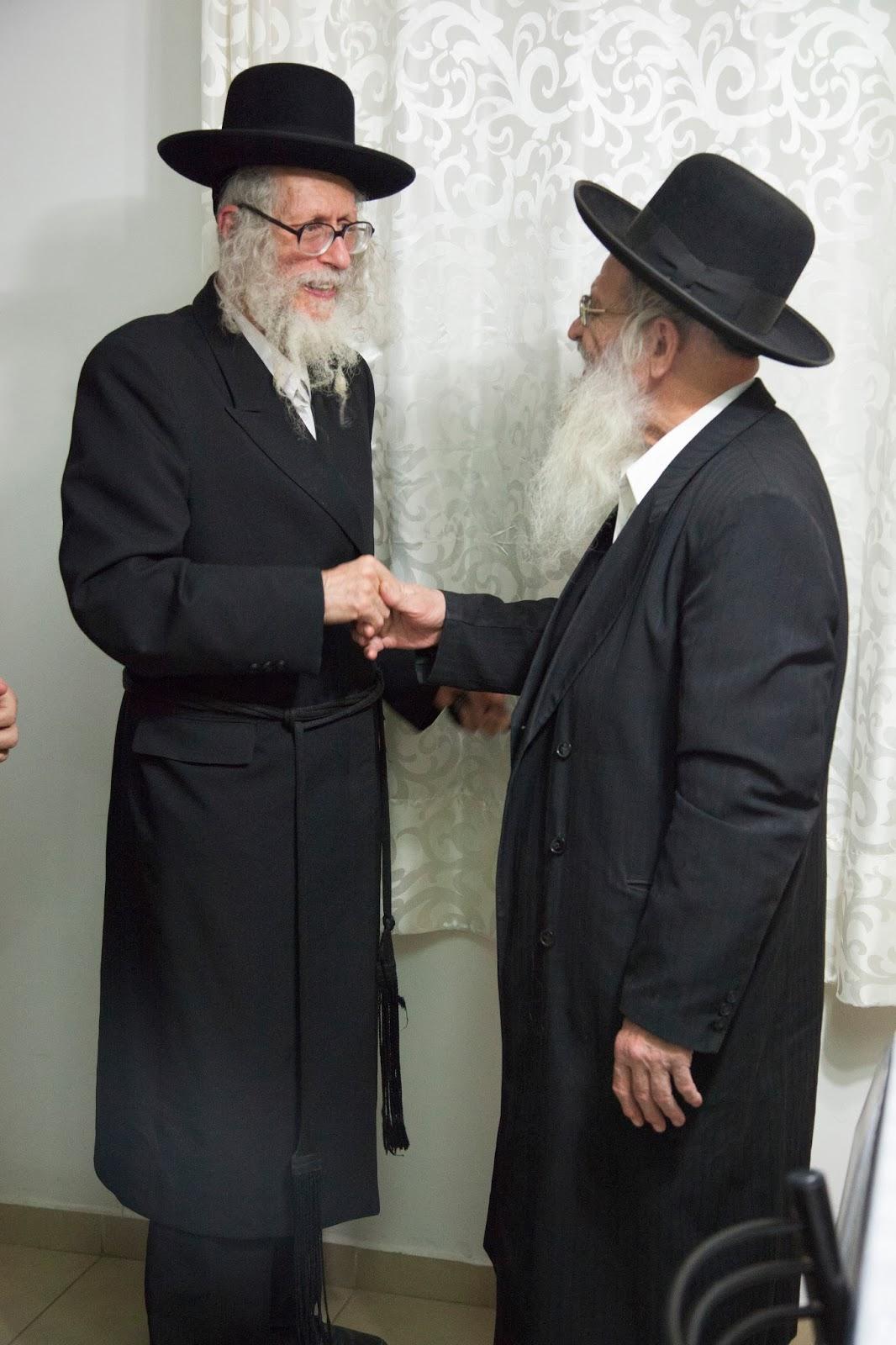 הרב ברלנד עם הרב נחמן רוזנטל