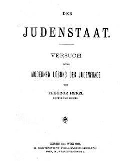 """Herzl's book """"Der Judenstaat"""" (""""The Jewish State"""")."""