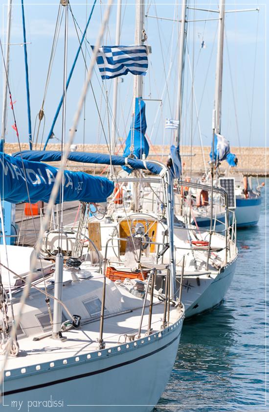 Chania port Crete