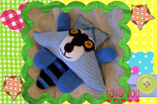 funmigurumi huggy dumplings ranger the racoon crochet pattern
