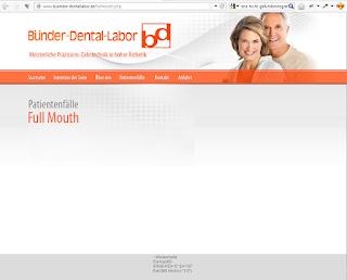 """Das Bündner Dental-Labor mit seiner ultimativ informativen Webseite: """"Alles über das EwCMS 3.0"""""""